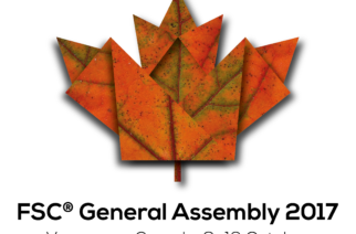 The 8th FSC General Assembly 2017 logo is distinctly Canadian!